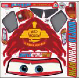 Feber Lighting McQueen Sticker set B