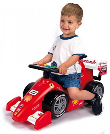Feber Ferrari F1 Foot to Floor Ride on Car with Handle